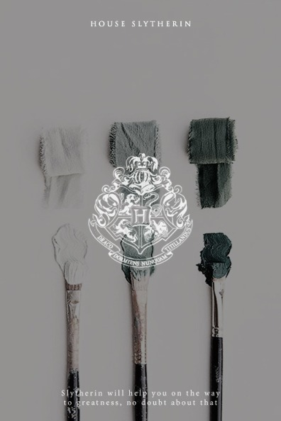 House Slytherin - Credits and Source: aly-naith.tumblr.com