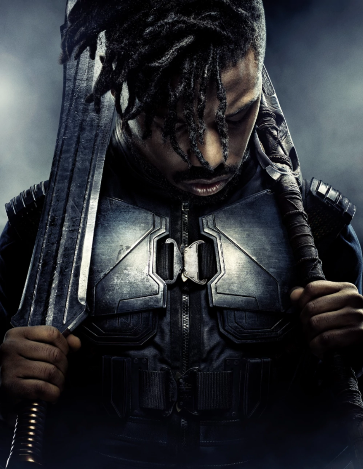 http://marvelcinematicuniverse.wikia.com/wiki/Erik_Killmonger?file=Black_Panther_Textless_Character_Poster_03.jpg